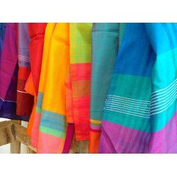 Handgemaakte katoenen & zijden sjaal