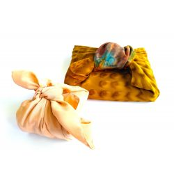 Furoshiki en sari recyclé (emballage cadeau) 100 cm