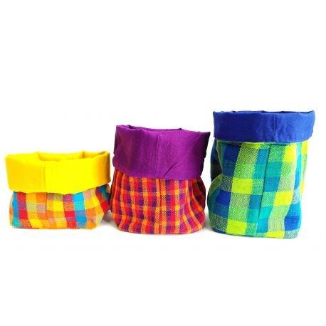 Paniers de rangement en coton